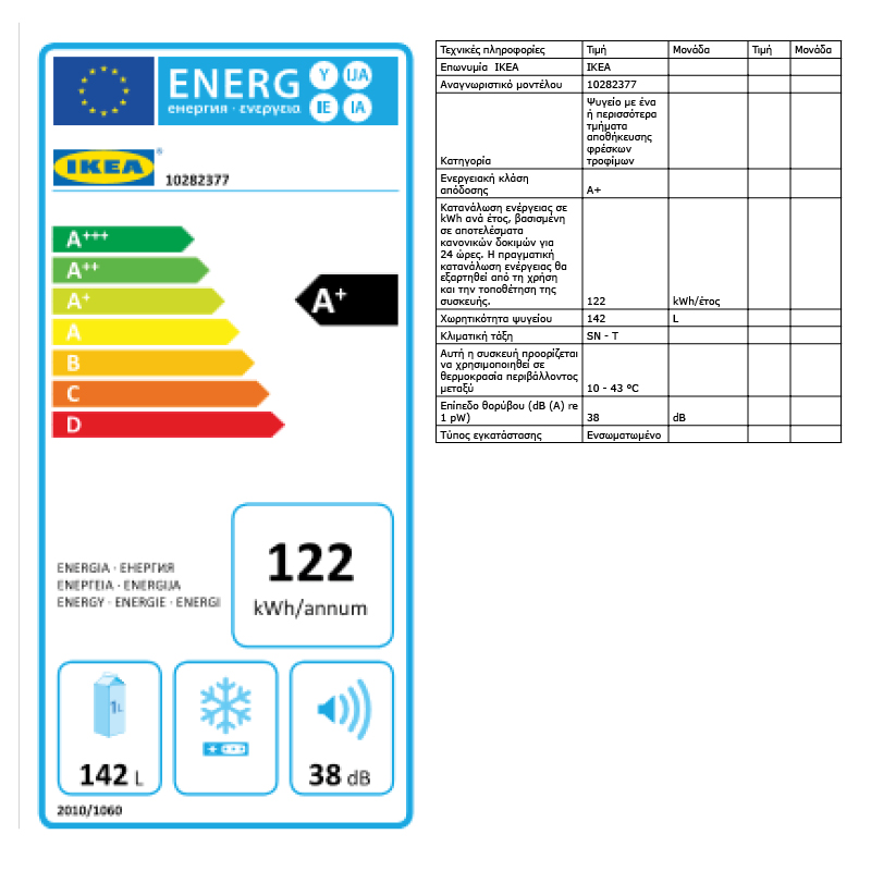 Energy Label Of: 10282377