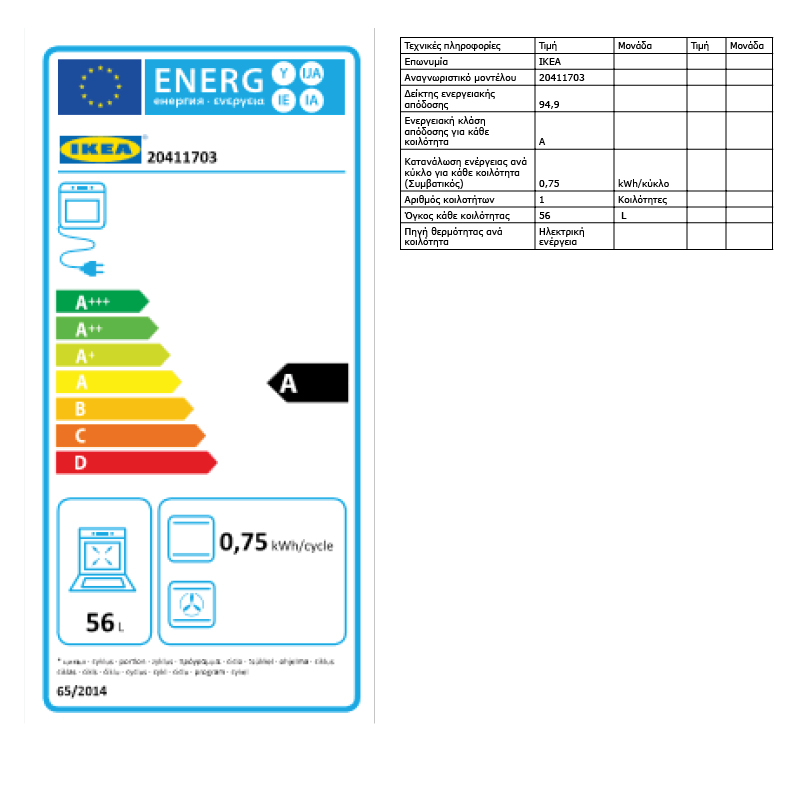 Energy Label Of: 20411703