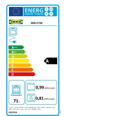 Energy Label Of: 30411726