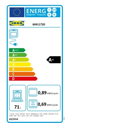 Energy Label Of: 60411720
